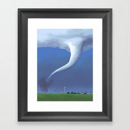 Tornado and the Windmills Framed Art Print