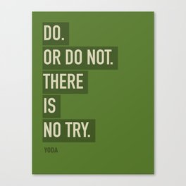 DO. OR DO NOT. THERE IS NOT TRY. Canvas Print