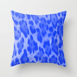 Blue Cheetah Throw Pillow