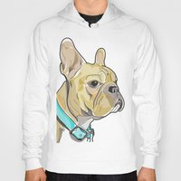 frenchie Hoodies featuring FRENCHIE by Analy Diego