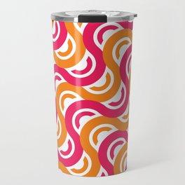 refresh curves and waves geometric pattern Travel Mug