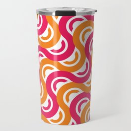 refresh curves and waves geometric pattern Travel Mug