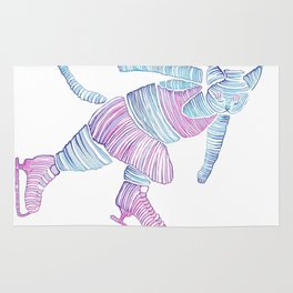 Peter the ice cat  Rug