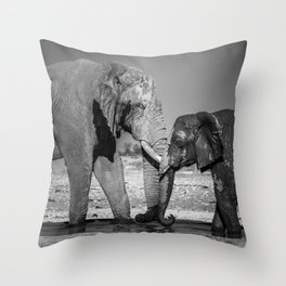 A Special Elephant Moment Throw Pillow