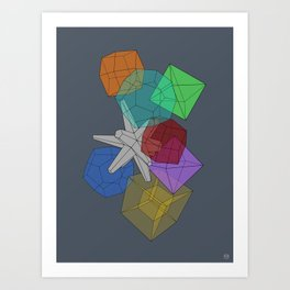 Cluster Flux Art Print