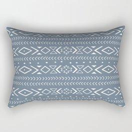 boho spirit: blue Rectangular Pillow