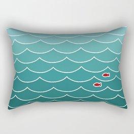 Deep Ocean Fish Rectangular Pillow
