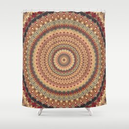 Earth Mandala 3 Shower Curtain