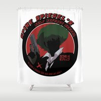 cowboy bebop Shower Curtains featuring Bebop Spike by AngoldArts