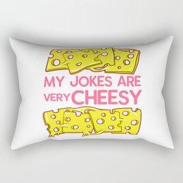 my jokes are very cheesy Rectangular Pillow