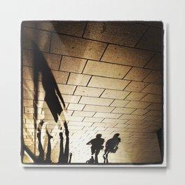 Pedestrian Shadows Metal Print