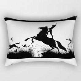Karl Wilhelm Diefenbach - Per aspera ad astra / Through Hardship to the Stars 3 (1892) Rectangular Pillow