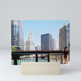 Chicago River Walk Mini Art Print
