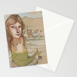 ROBOT SIREN Stationery Cards