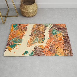 New York Mosaic Map #2 Rug