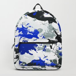 Blues and Grayz Wet Paint Backpack