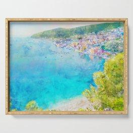 Côte d'Azur, Villefranche-sur-Mer, France, by Jennifer Berdy Serving Tray
