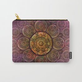 """""""Purple Mulberry violet shades & Gold Metal Mandala (pattern)"""" Carry-All Pouch"""