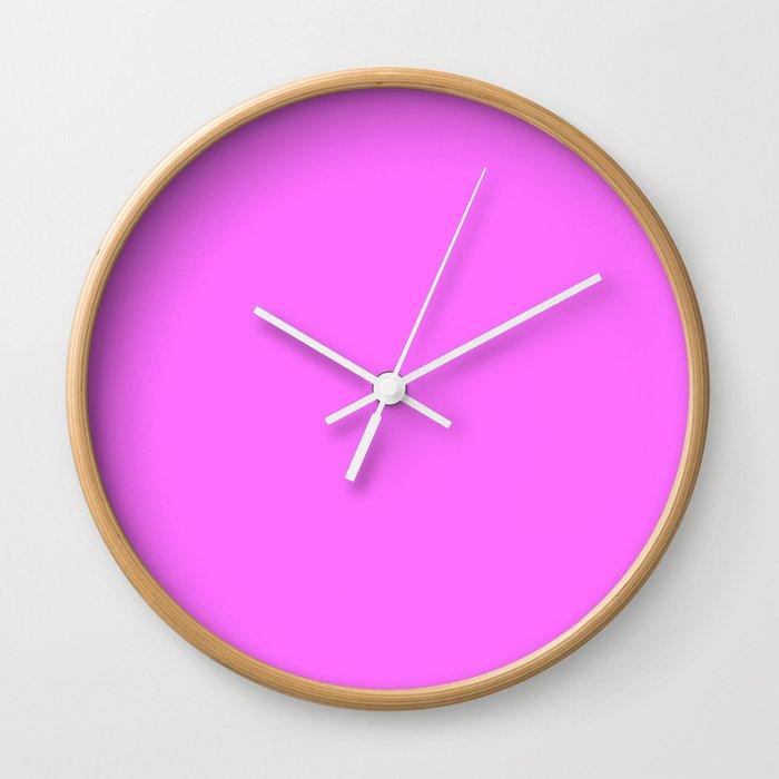 Shocking Pink Crayola Solid Color Wall Clock