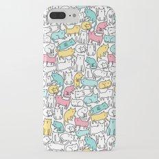 Cute kitties. Cats pattern. Slim Case iPhone 7 Plus