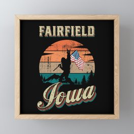 Fairfield Iowa Framed Mini Art Print