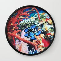 megaman Wall Clocks featuring Megaman by John Turck
