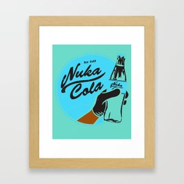 Nuka Cola Fallout drink Framed Art Print