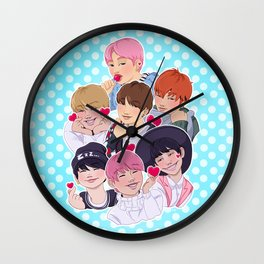 BTS - All the Hearts Wall Clock