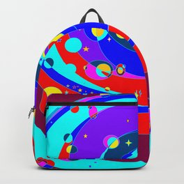 A Galaxy Full of Color and Heavenly Bodies Backpack