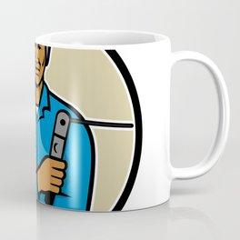 African American Welder Mascot Coffee Mug