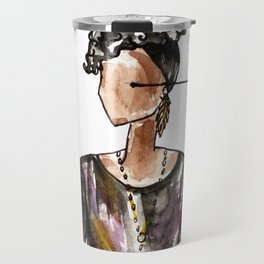 Saturday Night Party (white background) Travel Mug