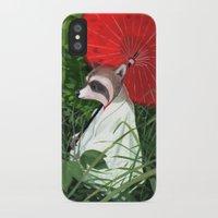 raccoon iPhone & iPod Cases featuring Raccoon by Erik Krenz