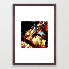 Floating Umbrella, Chicago 2012 Framed Art Print