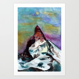 Matterhorn Mountain Art Print