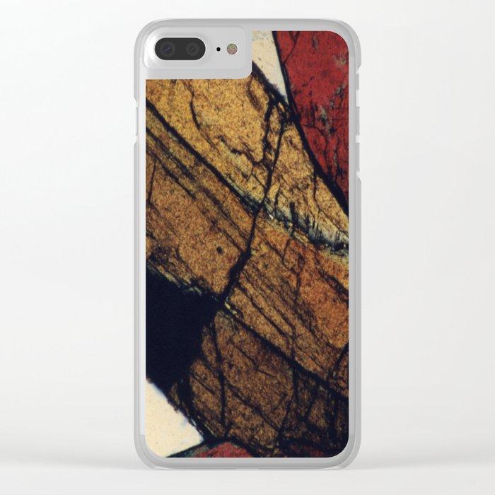 Epidote and Quartz Clear iPhone Case