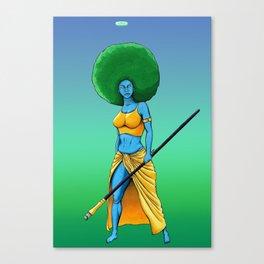 Art Is War (Her) Canvas Print