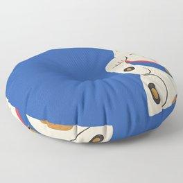 Blue Lucky Cat Maneki Neko Floor Pillow