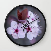 blossom Wall Clocks featuring Blossom by Michelle McConnell