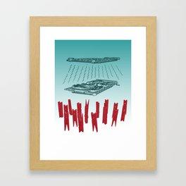 Clothesline Framed Art Print
