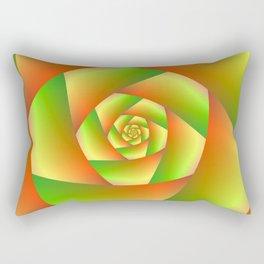 Spiral in Yellow Orange and Green Rectangular Pillow