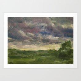 Oil Painting On Canvas Landscape Artwork Gloomy Sky Modern Room Wall Art Home Living Art Print