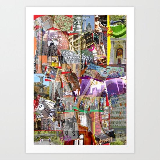 NYC PUZZLE Art Print