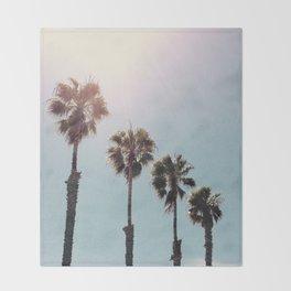 Four Palms Throw Blanket