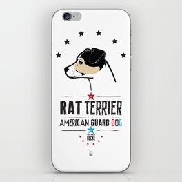 Rat Terrier: American Guard Dog iPhone Skin