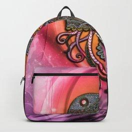 Elegant jellyfish, mandala Backpack
