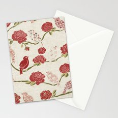 Nightingale and Rose Stationery Cards