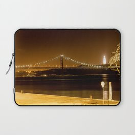 Lisbon bridge light Laptop Sleeve