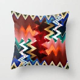abstract zees 1 Throw Pillow