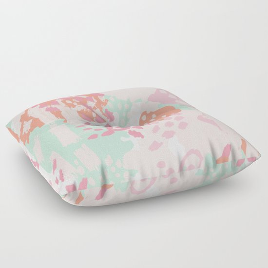 Floor Pillows For Baby : Billie - abstract gender neutral trendy painting soft colors bright happy nursery baby art Floor ...