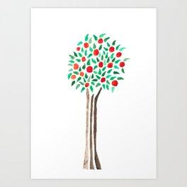 Orange Tree Watecolor Art Print